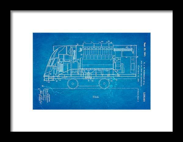Ragsdale pioneer zephyr train 2 patent art 1941 blueprint framed engineer framed print featuring the photograph ragsdale pioneer zephyr train 2 patent art 1941 blueprint by malvernweather Images
