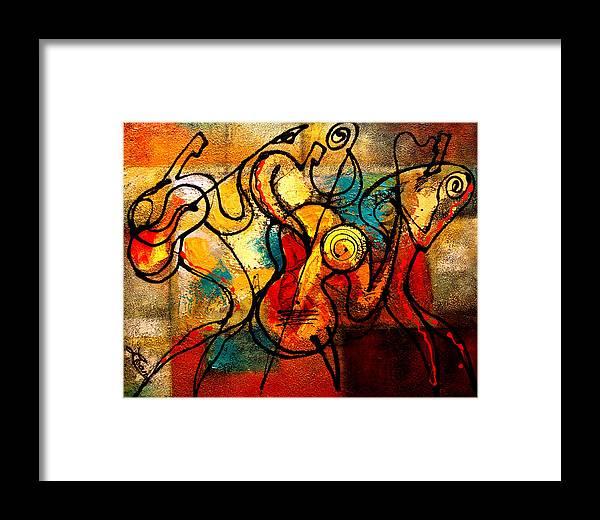 Framed Print featuring the painting Ragtime by Leon Zernitsky
