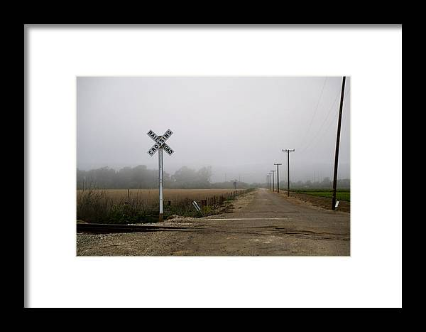 Railroad Sign Framed Print featuring the photograph Railroad Crossing by Marc Levine