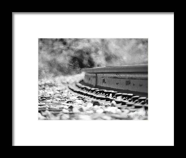 Railroad Framed Print featuring the photograph Railroad Heat by Mariah Stone