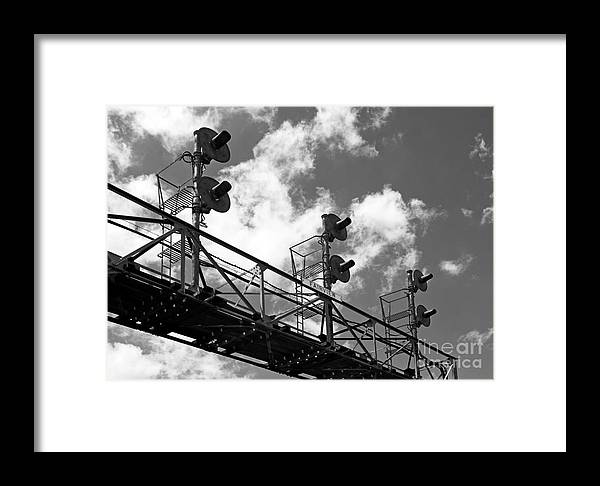 Railroad Framed Print featuring the photograph Railroad Signal Tower by Glenn Morimoto