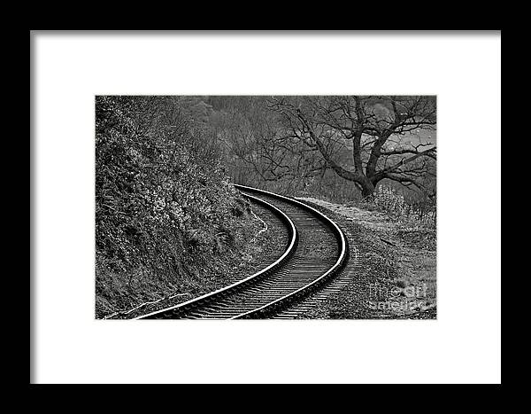 Arch Framed Print featuring the photograph Railway Line by Zuzana Tenhue