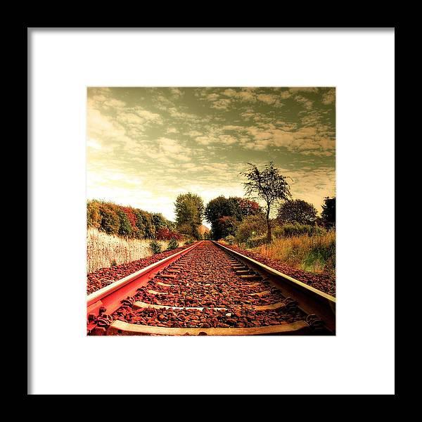 Train Framed Print featuring the photograph Railway by Sharika Suresh