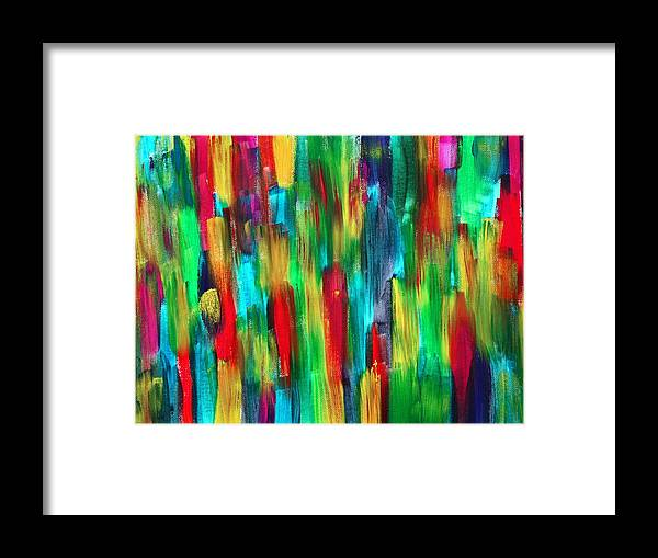 Garden Framed Print featuring the painting Rain Garden by Tom Atkins