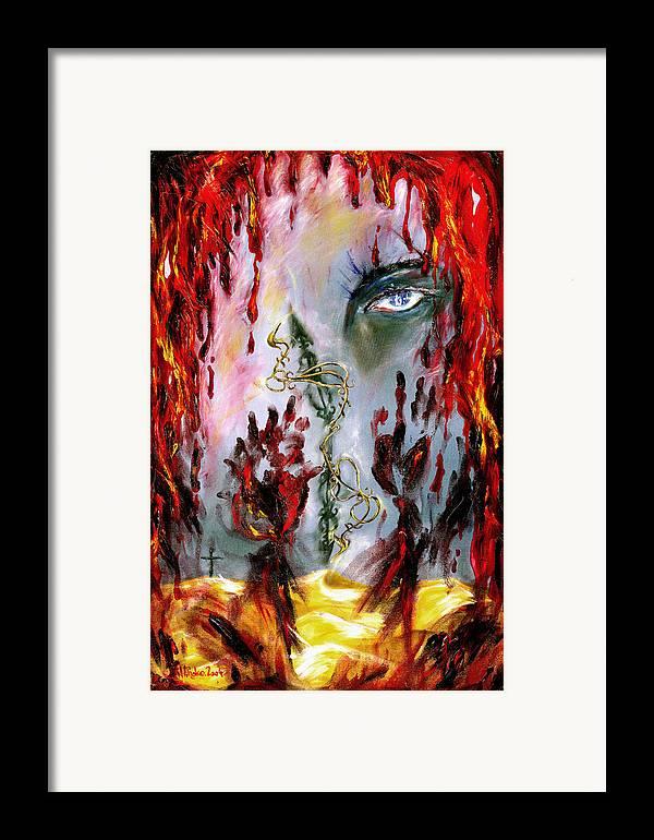 Rain Framed Print featuring the painting Rain by Hiroko Sakai
