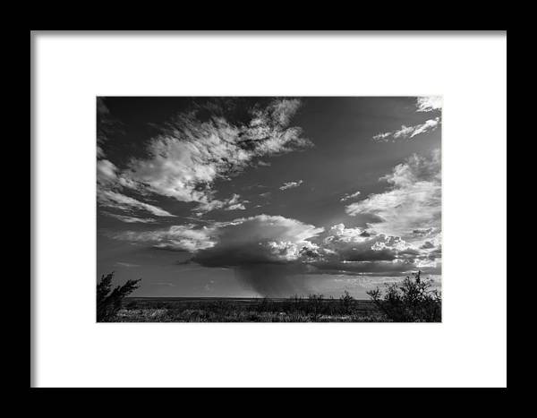 West Texas Landscape Framed Print featuring the photograph Rain Showers by Mark Short