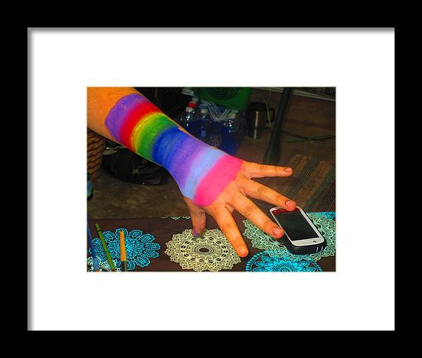 Abstract Framed Print featuring the photograph Rainbow Arm by Dart and Suze Humeston