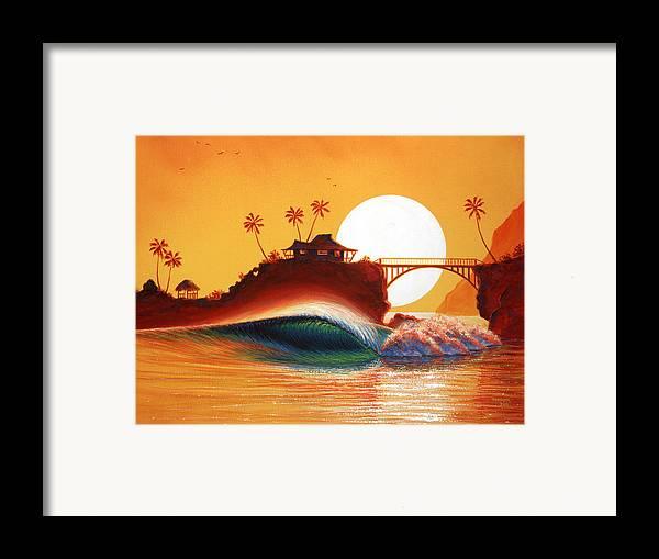Patrick Parker Art Framed Print featuring the painting Rainbow Bridge by Patrick Parker