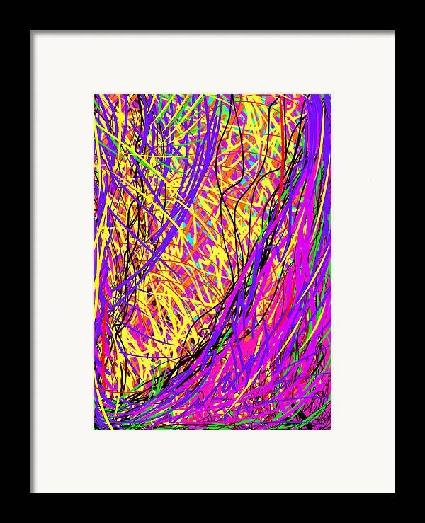 Daina Framed Print featuring the painting Rainbow Divine Fire Light by Daina White