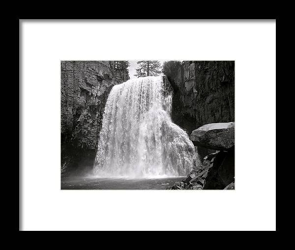 San Joaquin River Framed Print featuring the photograph Rainbow Falls by Bill Gallagher