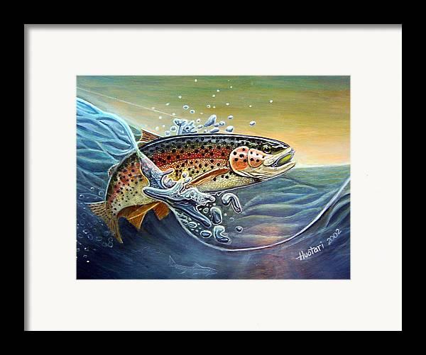 Rick Huotari Framed Print featuring the painting Rainbow by Rick Huotari