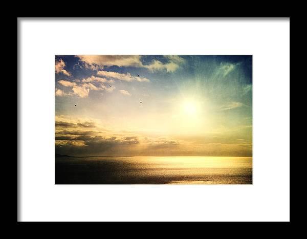 Alaska Framed Print featuring the photograph Rainbow Sunburst by Michele Cornelius