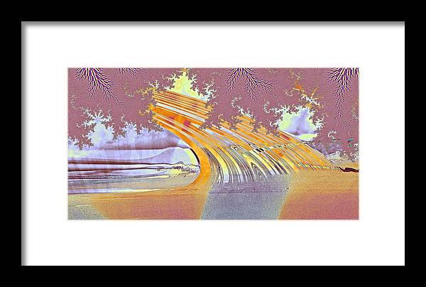 Fractal Framed Print featuring the digital art Rainbow's End by Kenneth Keller
