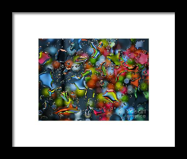 Rain Framed Print featuring the photograph Raindrops by Sue Rosen