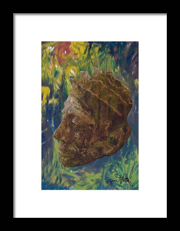 Oil Painting Framed Print featuring the painting Rainforest King by Eugene Foltuz
