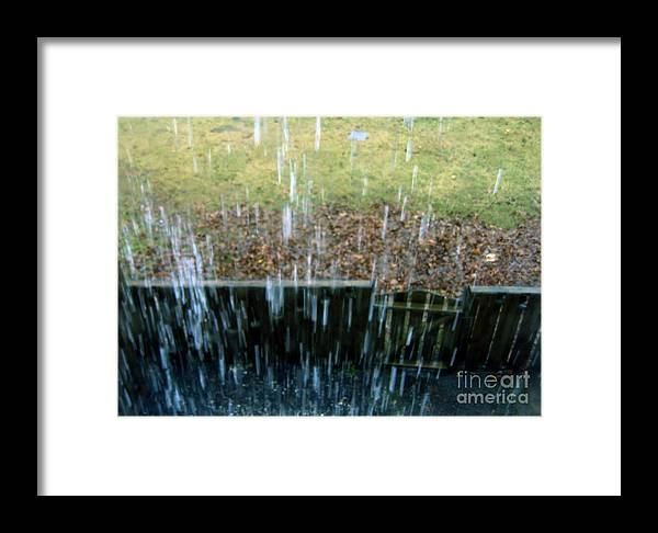 Rain Framed Print featuring the photograph Raining Outside by Andre Paquin