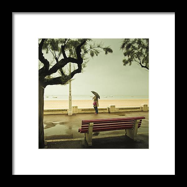 Rain Framed Print featuring the photograph Rainy Day by Cedric Lange