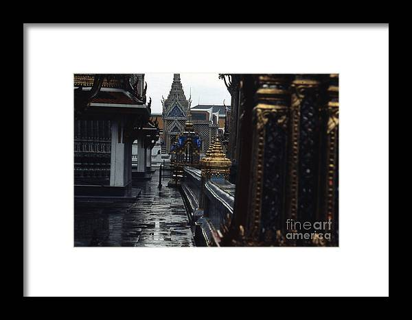 Scott Shaw Framed Print featuring the photograph Rainy Day In Bangkok by Scott Shaw