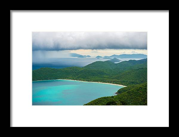 Mountains Framed Print featuring the photograph Rainy Day on Megan's Bay by Paul Johnson
