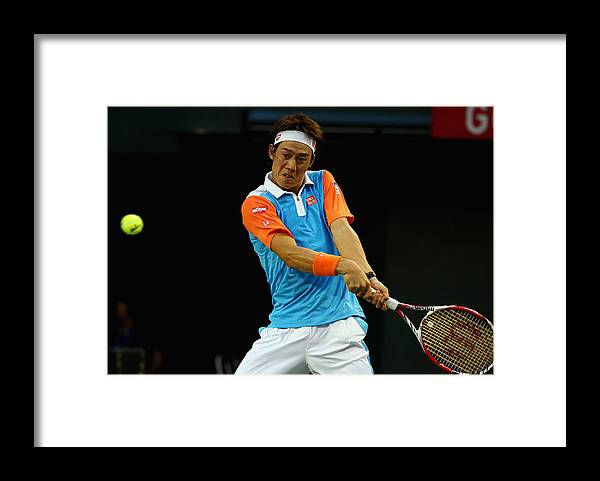 Tennis Framed Print featuring the photograph Rakuten Open - Day 4 by Koji Watanabe