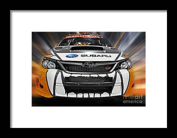 Car Framed Print featuring the photograph Rally Cross by Tom Gari Gallery-Three-Photography