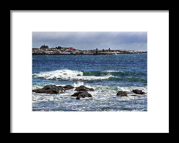 Maine Framed Print featuring the photograph Ram Island Lighthouse by Brenda Giasson