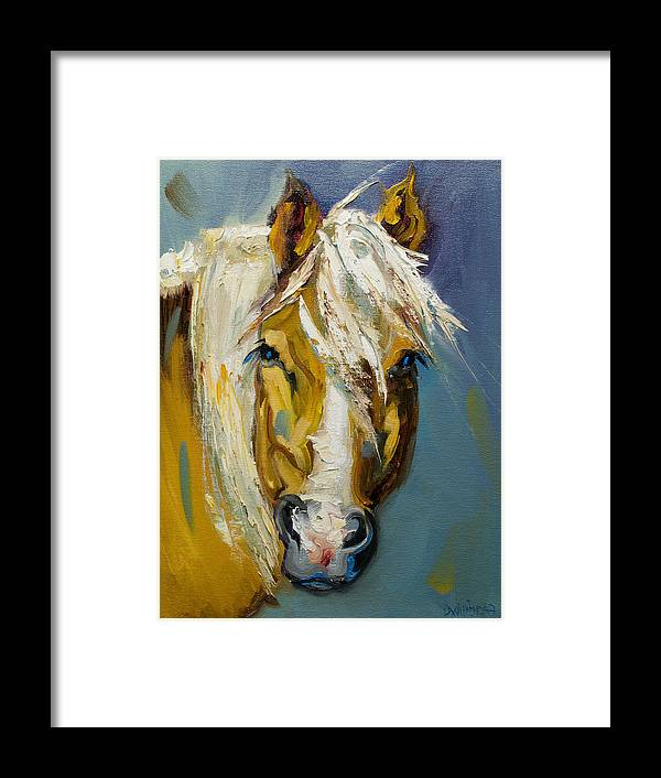 Horse Framed Print featuring the painting Ranch Horse by Diane Whitehead
