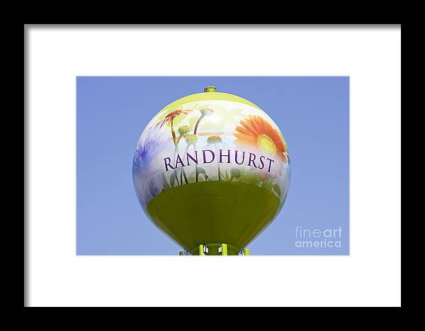 Randhurst Framed Print featuring the photograph Randhurst Water Tower by Patty Colabuono