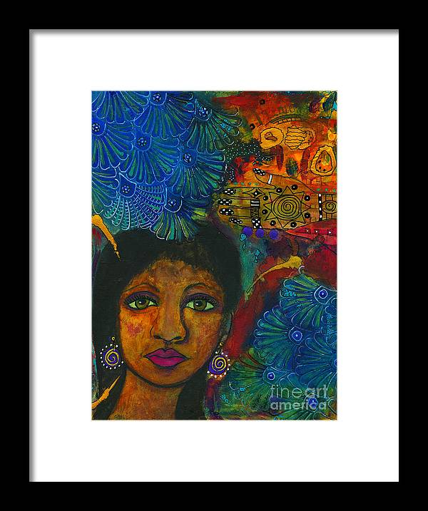 Abstract Mixed Media Framed Print featuring the painting Random Kindness by Angela L Walker