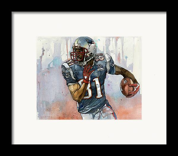 Randy Moss Framed Print featuring the painting Randy Moss by Michael Pattison