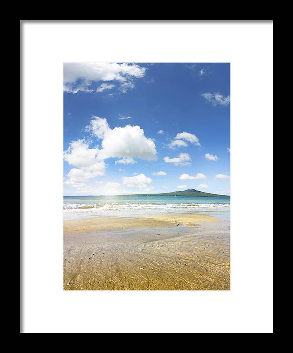 Beauty In Nature Framed Print featuring the photograph Rangitoto Island by Les Cunliffe