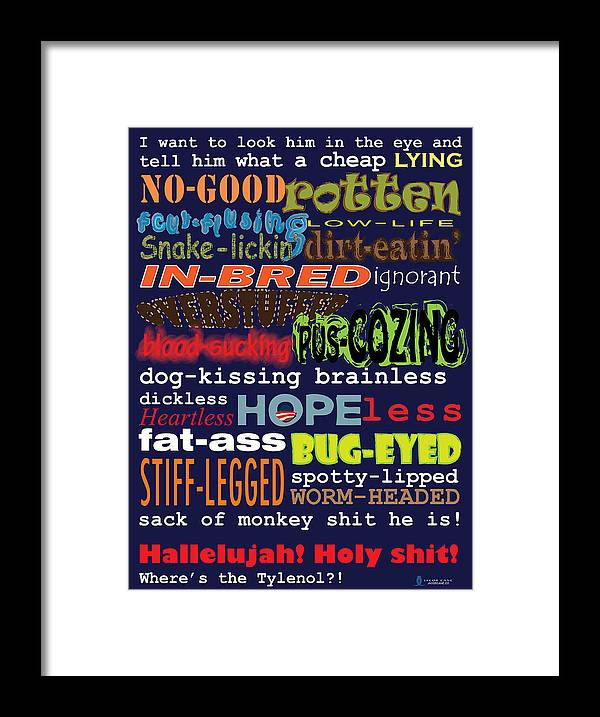 Clark Griswold Framed Print featuring the photograph Rant by Jacob Cane