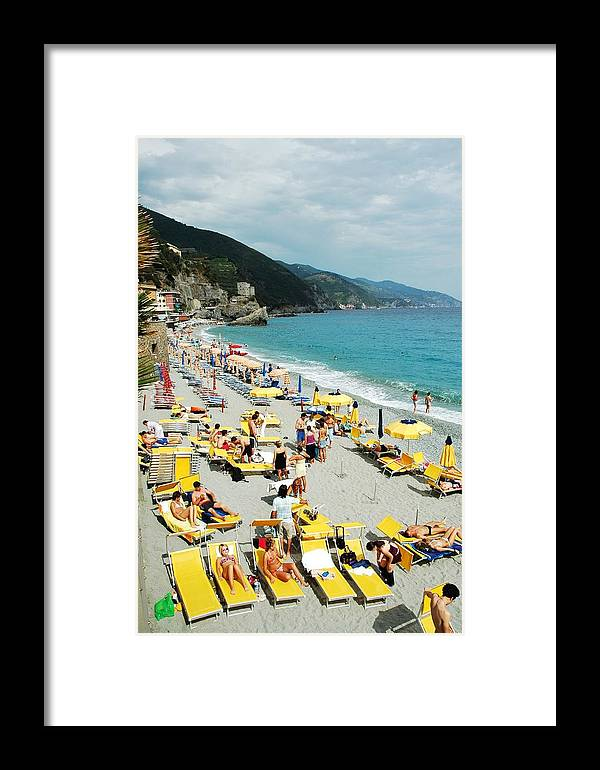 Italy Framed Print featuring the photograph Rapallo Beach by Allen Beatty