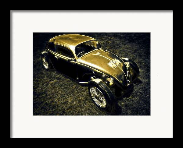 Vw Beetle Framed Print featuring the photograph Rat Beetle by motography aka Phil Clark