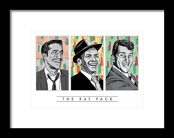 Rat Pack Pop Art Framed Print By Jim Zahniser