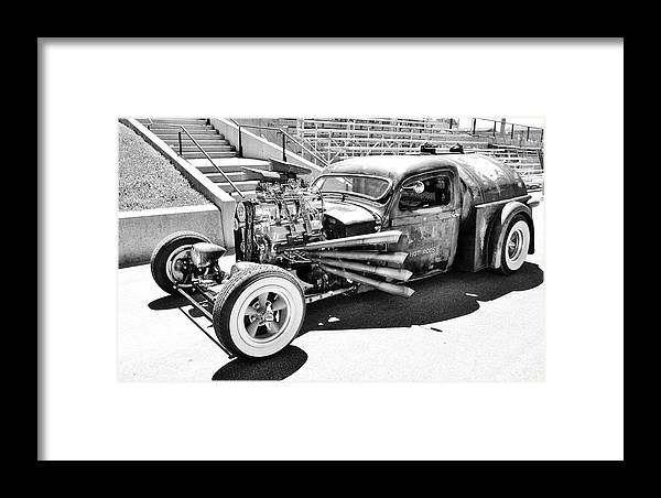 Car Framed Print featuring the photograph Rat Rod by Cathy Smith