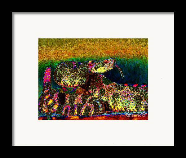 Rattlesnake Framed Print featuring the photograph Rattlesnake 20130204p0 by Wingsdomain Art and Photography