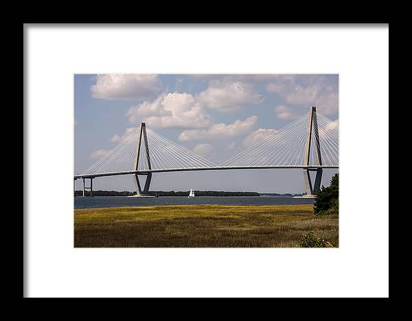 Ravenel Framed Print featuring the photograph Ravenel Bridge 03 by Terry Shoemaker