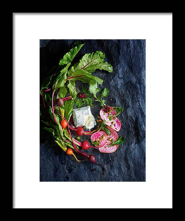 Cheese Framed Print featuring the photograph Raw Beeet Salad Ingredients by Annabelle Breakey
