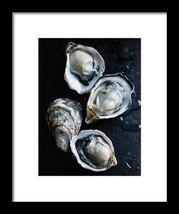 Oyster Framed Print featuring the photograph Raw Oysters by Jack Andersen