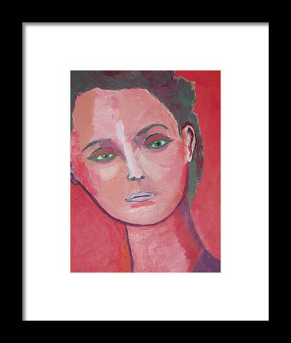Portrait Framed Print featuring the painting Raw Seal Heart Eater by Manuel Matas