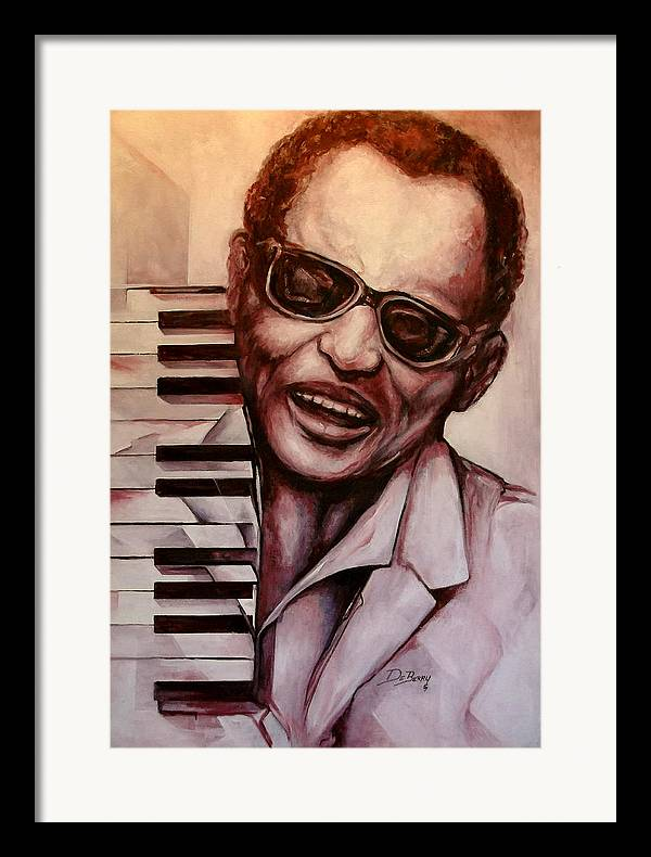 Original Fine Art By Lloyd Deberry Framed Print featuring the painting Ray The Print by Lloyd DeBerry