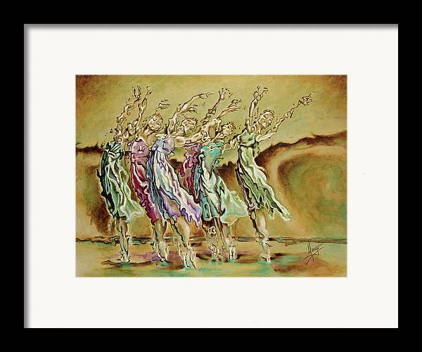 Ballet Framed Print featuring the painting Reach Beyond Limits by Karina Llergo