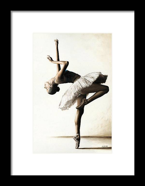 Dancer Framed Print featuring the painting Reaching For Perfect Grace by Richard Young