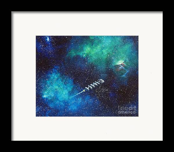 Spacescape Framed Print featuring the painting Reaching Out by Murphy Elliott