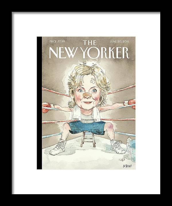 Hillary Clinton Framed Print featuring the painting Ready For A Fight by Barry Blitt