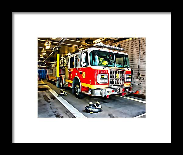 Firetruck Framed Print featuring the photograph Ready For Anything by Alice Gipson