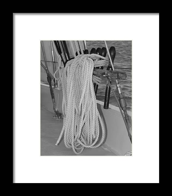 Rope Framed Print featuring the photograph Ready For Sailing by Jill Kelley