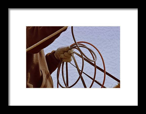 Roper Framed Print featuring the digital art Ready To Rope by Kae Cheatham
