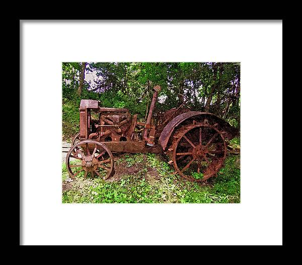 Tractor Framed Print featuring the photograph Ready When You Are by Mike Bowers